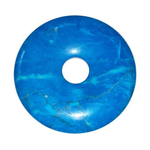 pi chinois donut howlite bleue 50mm