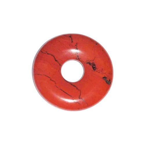 pi chinois donut jaspe rouge 20mm