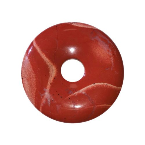 pi chinois donut jaspe rouge 40mm