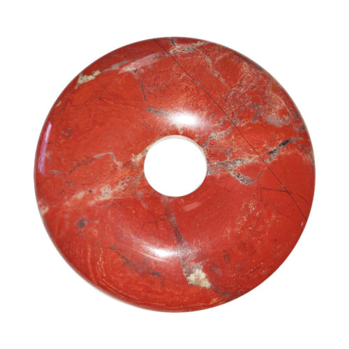 pi chinois donut jaspe rouge 50mm