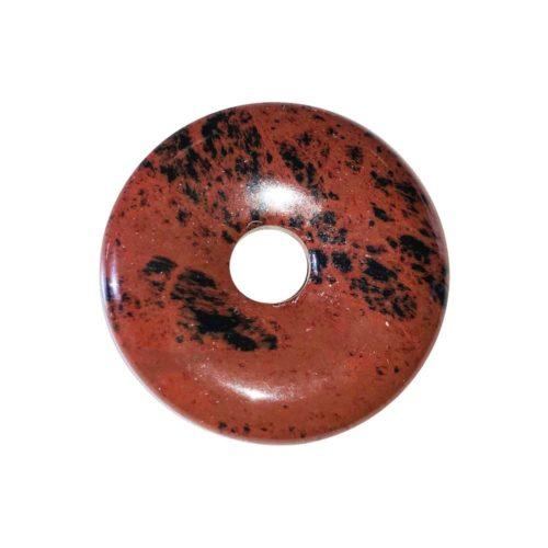pi chinois donut obsidienne acajou 30mm