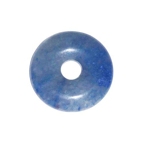 pi chinois donut quartz bleu 20mm