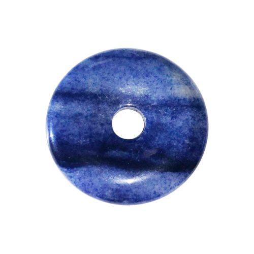 pi chinois donut quartz bleu 30mm