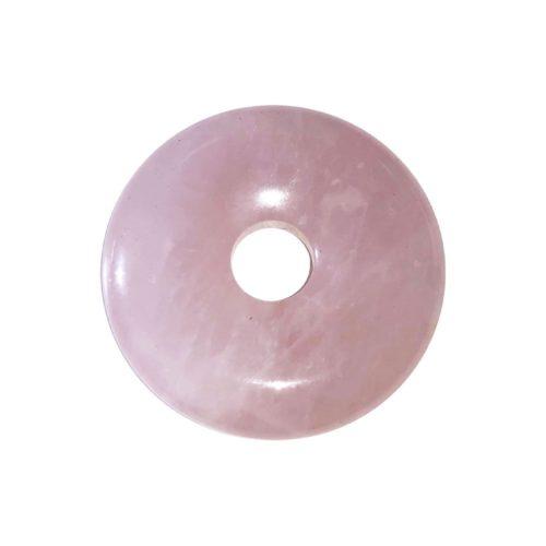 pi chinois donut quartz rose 30mm