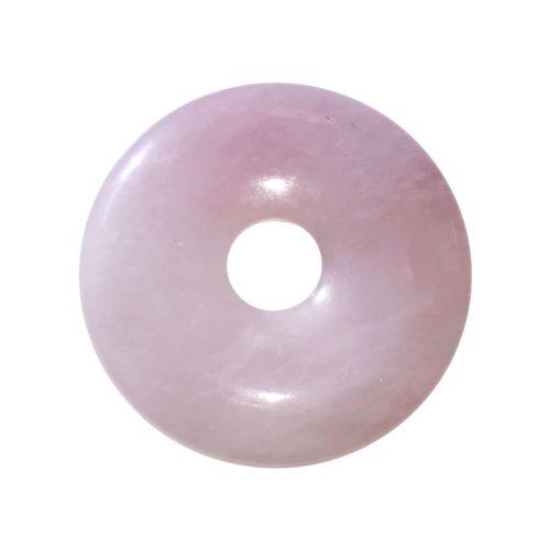 pi chinois donut quartz rose 40mm