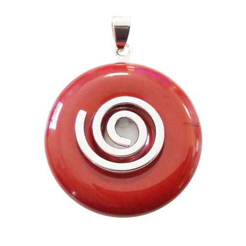 pendentif jaspe rouge pi chinois