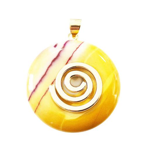 pendentif mookaite pi chinois