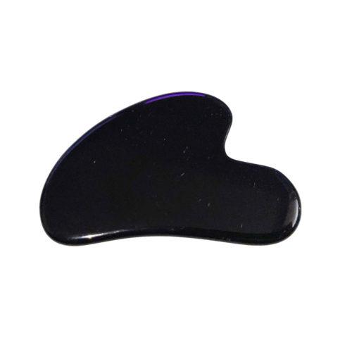 gua sha de massage obsidienne noire