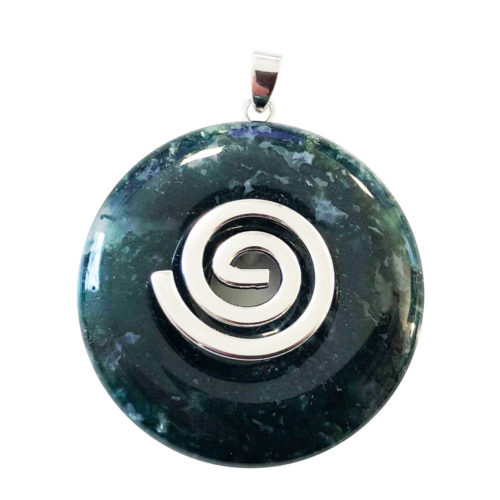 pendentif agate mousse pi chinois