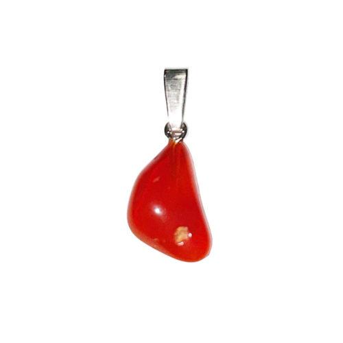 pendentif opale de feu pierre roulée