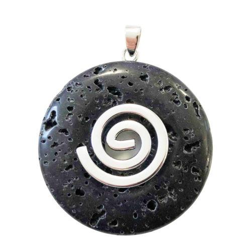 pendentif pierre de lave pi chinois