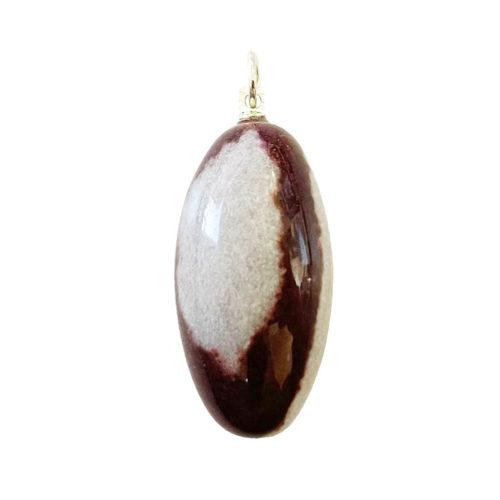 pendentif shiva lingam pierre roulée