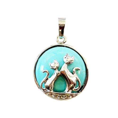 pendentif turquoise stabilisée chat