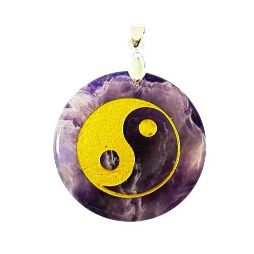 Pendentif Améthyste Taoïste Yin-Yang