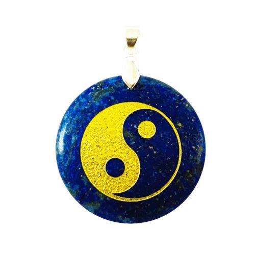 Pendentif Lapis-lazuli Taoïste Yin-Yang