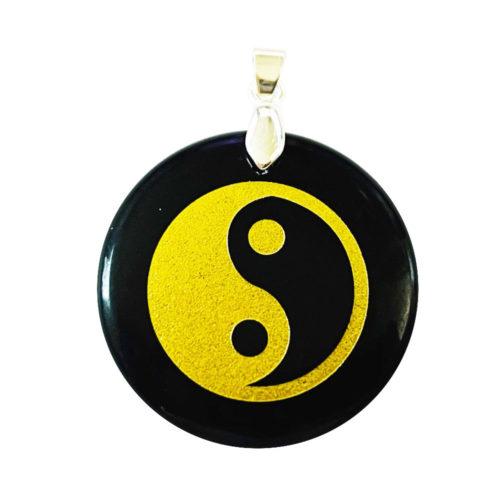Pendentif Obsidienne noire Taoïste Yin-Yang