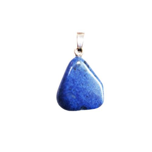 pendentif dumortiérite pierre roulée
