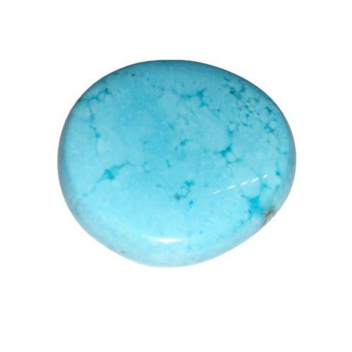Pierre plate Howlite bleue