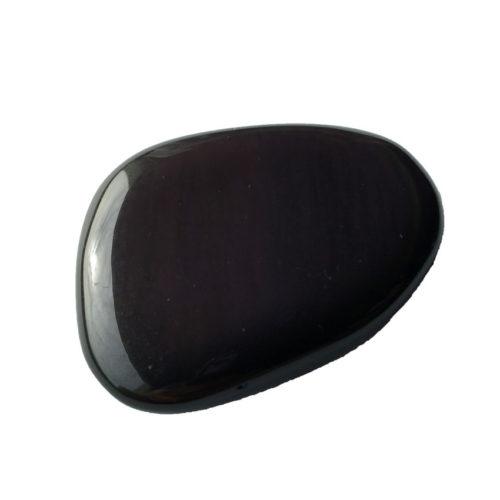 pierre plate obsidienne noire