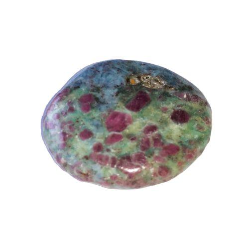 pierre plate rubis sur fuschite