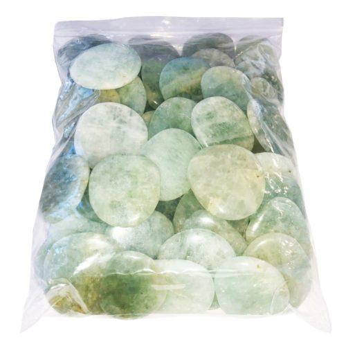 sachet pierres plates aigue marine