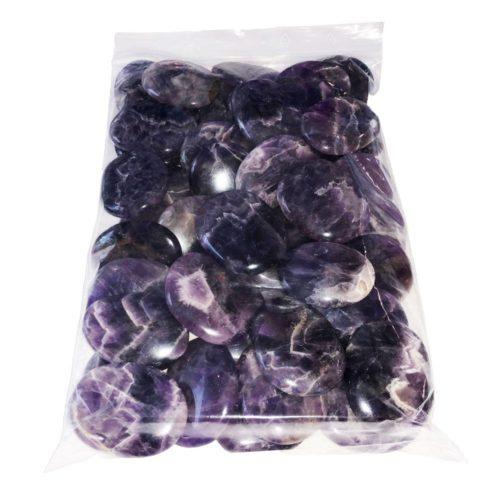 sachet pierres plates amethyste