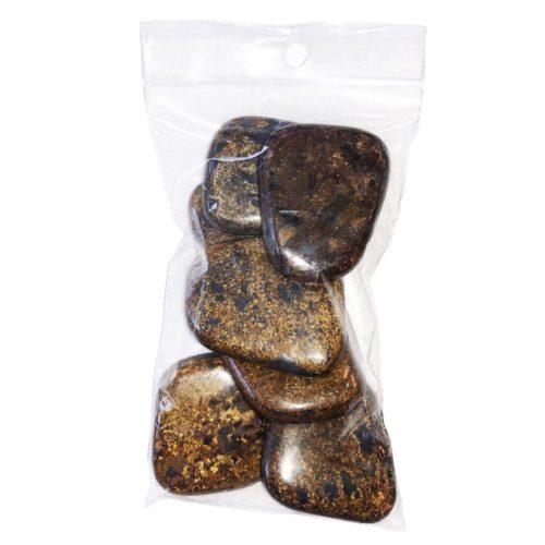 sachet pierres plates enstatite