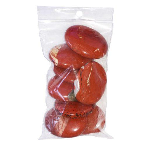 sachet pierres plates jaspe rouge