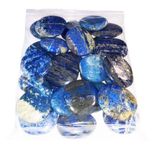 sachet pierres plates lapis lazuli