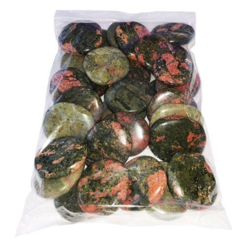 sachet pierres plates unakite