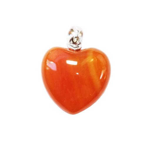 pendentif cornaline petit coeur