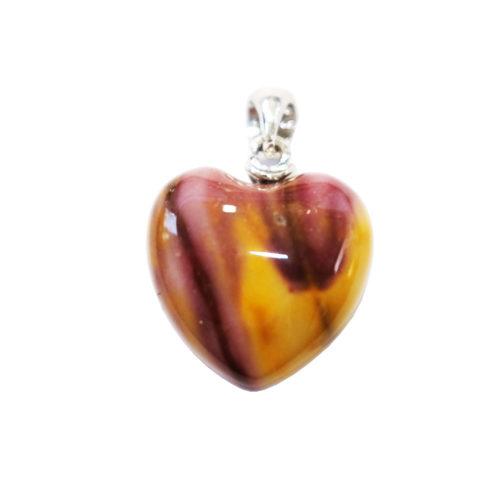 pendentif mookaite petit coeur