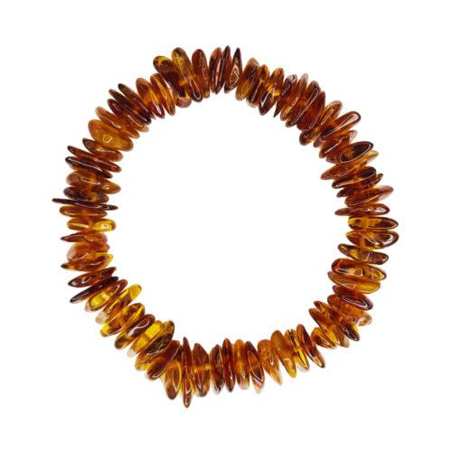 bracelet ambre cognac 19cm