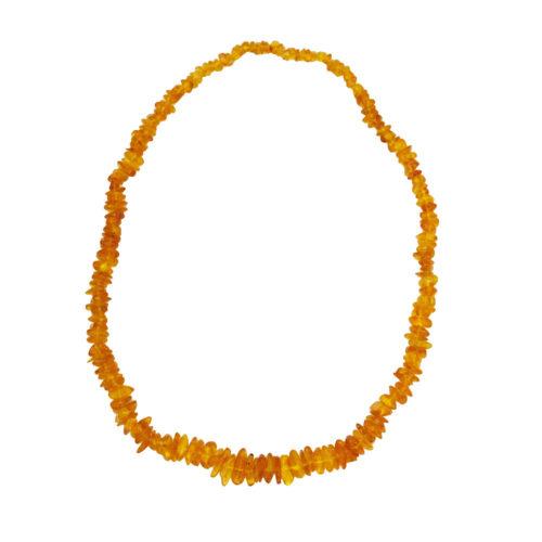 collier ambre jaune baroque 60cm