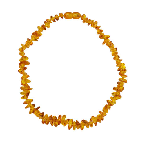 collier ambre jaune pour enfant