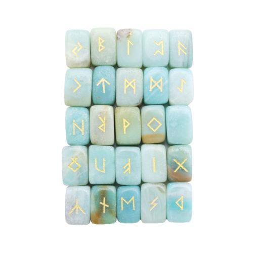 jeu de 25 runes amazonite