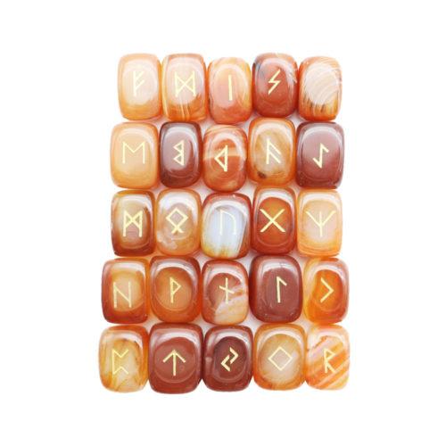 jeu de 25 runes cornaline