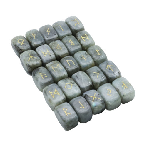 jeu de 25 runes labradorite