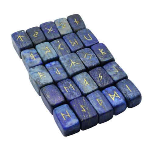 jeu de 25 runes lapis-lazuli