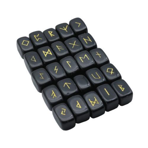 jeu de 25 runes obsidienne