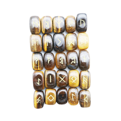 jeu de 25 runes oeil de tigre