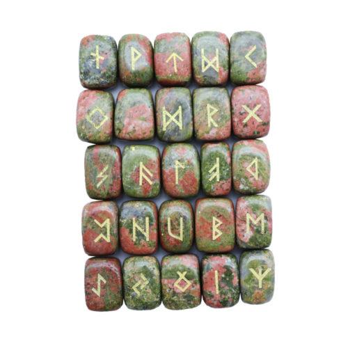jeu de 25 runes unakite