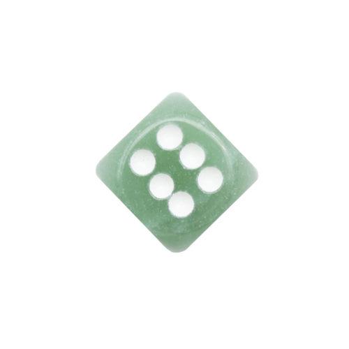 jeu de dés aventurine verte