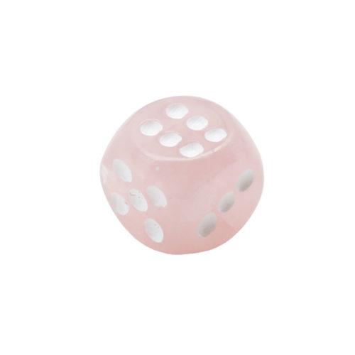 jeu de dés quartz rose