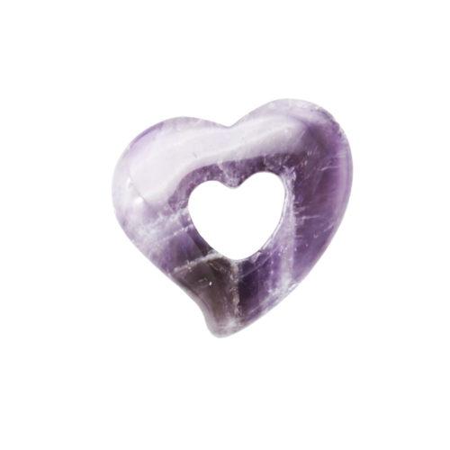 pendentif pi chinois ou donut amethyste coeur