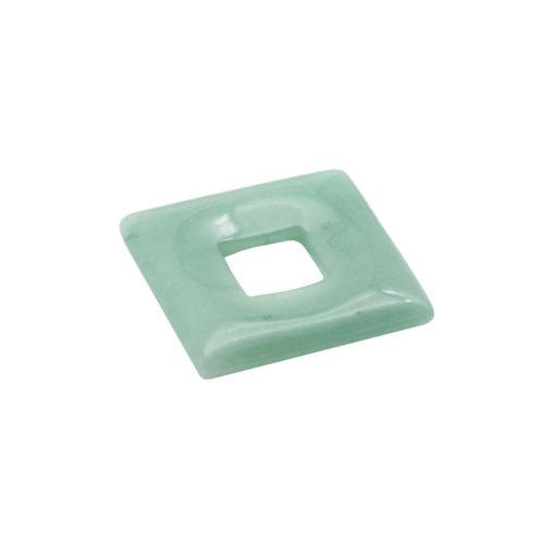 pendentif pi chinois ou donut aventurine verte petit carré