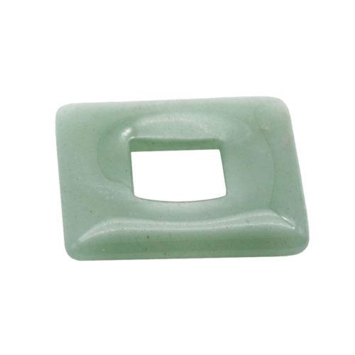 pendentif pi chinois ou donut aventurine verte carré