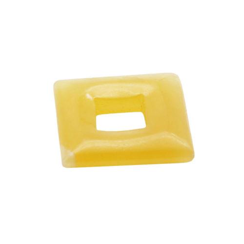 pendentif pi chinois ou donut calcite orange petit carré