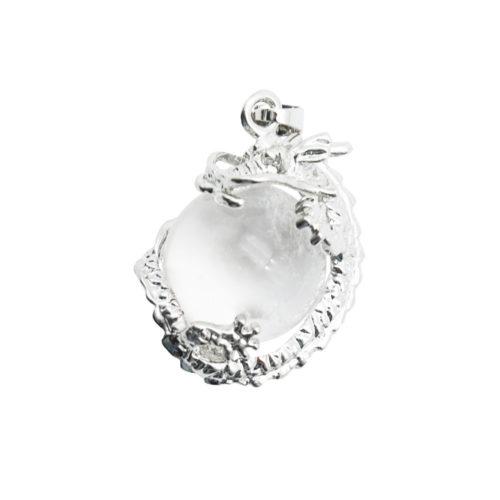 pendentif cristal de roche dragon
