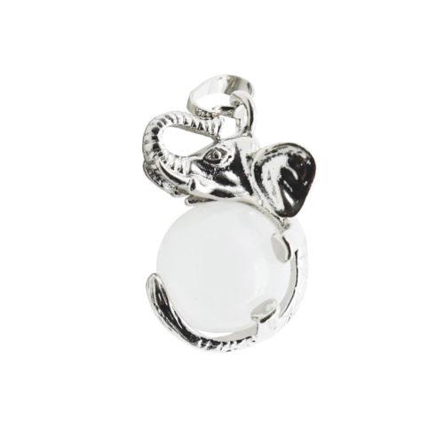 pendentif cristal de roche elephant